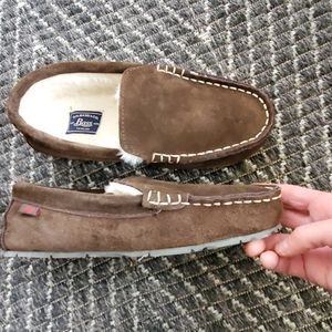 Bass Tahoe suede loafers slippers mens 8